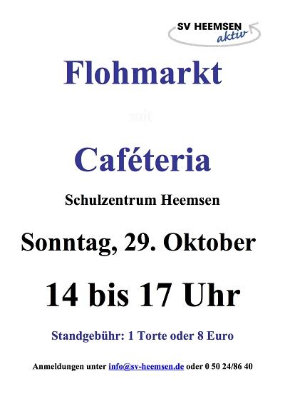 Am 29. Oktober ist wieder Flohmarkt