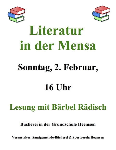 Lesung Bärbel Rädisch©Sportverein Heemsen