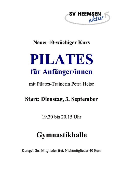 Pilates©Sportverein Heemsen