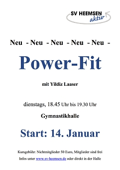 Power-Fit © Sportverein Heemsen