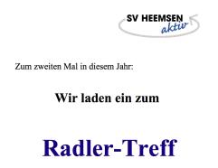 Radler©Sportverein Heemsen