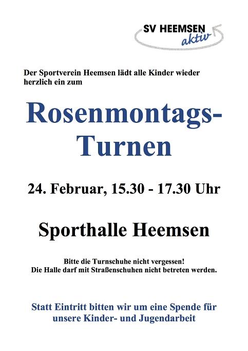 Rosenmontag©Sportverein Heemsen