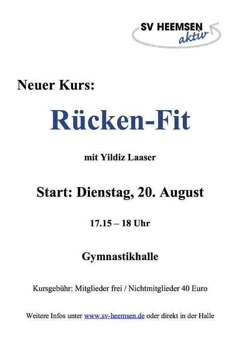 Rücken-Fit © Sportverein Heemsen