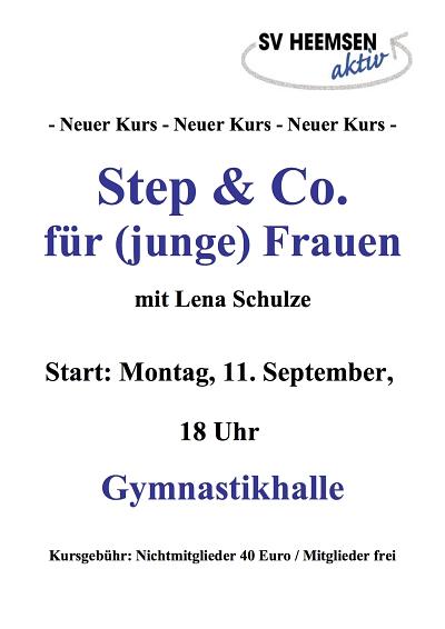 Step & Co.: Neueinsteiger willkommen