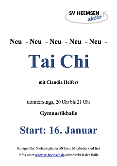 Tai Chi©Sportverein Heemsen