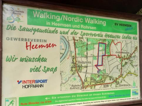 Walkingtafel©Sportverein Heemsen