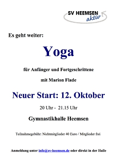 Yoga©Sportverein Heemsen